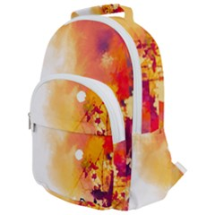 Autumn Paint Rounded Multi Pocket Backpack