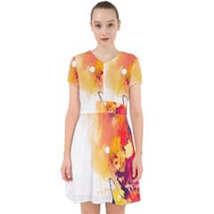 Autumn Paint Adorable In Chiffon Dress