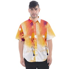 Autumn Paint Men s Short Sleeve Shirt