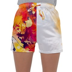 Autumn Paint Sleepwear Shorts