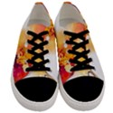 Autumn paint Men s Low Top Canvas Sneakers View1