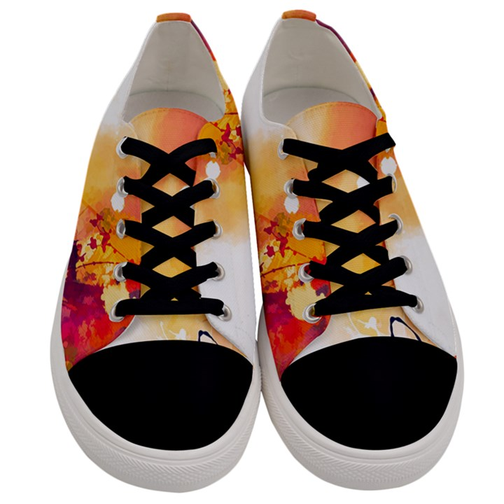 Autumn paint Men s Low Top Canvas Sneakers