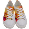Autumn paint Women s Low Top Canvas Sneakers View1