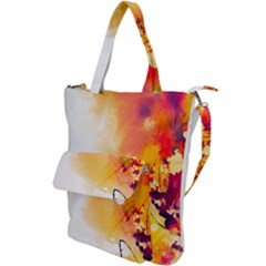 Autumn Paint Shoulder Tote Bag