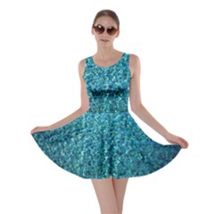 Turquoise Blue Ocean Skater Dress