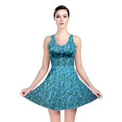 Turquoise Blue Ocean Reversible Skater Dress