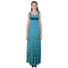 Turquoise Blue Ocean Empire Waist Maxi Dress