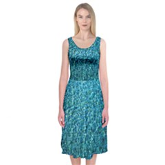 Turquoise Blue Ocean Midi Sleeveless Dress