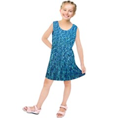 Turquoise Blue Ocean Kids  Tunic Dress