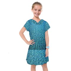 Turquoise Blue Ocean Kids  Drop Waist Dress by retrotoomoderndesigns
