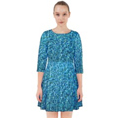 Turquoise Blue Ocean Smock Dress