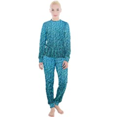 Turquoise Blue Ocean Women s Lounge Set