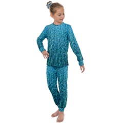 Turquoise Blue Ocean Kids  Long Sleeve Set