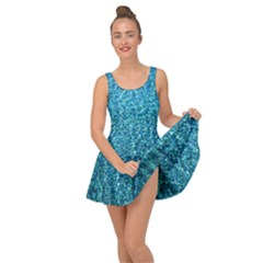 Turquoise Blue Ocean Inside Out Casual Dress