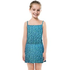 Turquoise Blue Ocean Kids  Summer Sun Dress