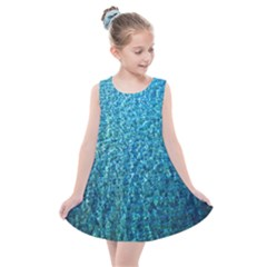Turquoise Blue Ocean Kids  Summer Dress