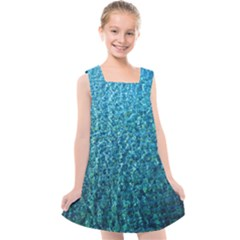 Turquoise Blue Ocean Kids  Cross Back Dress