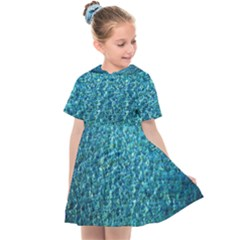Turquoise Blue Ocean Kids  Sailor Dress