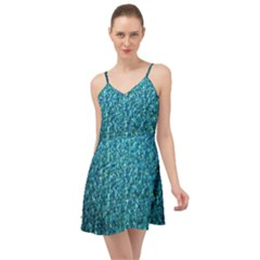 Turquoise Blue Ocean Summer Time Chiffon Dress