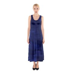 Blue Grunge Sleeveless Maxi Dress by retrotoomoderndesigns