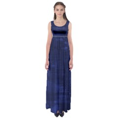 Blue Grunge Empire Waist Maxi Dress by retrotoomoderndesigns