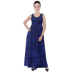 Blue Grunge Empire Waist Velour Maxi Dress by retrotoomoderndesigns