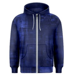 Blue Grunge Men s Zipper Hoodie