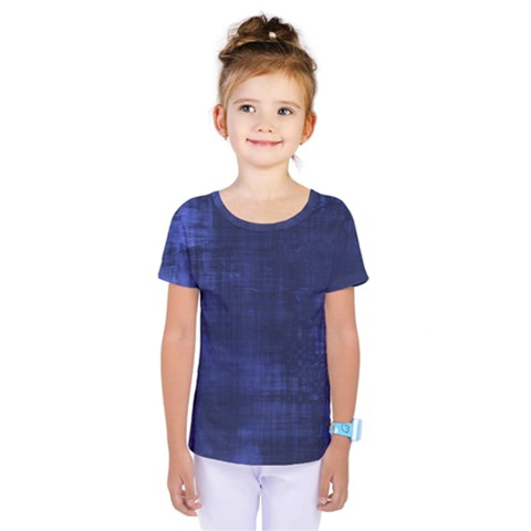 Blue Grunge Kids  One Piece Tee by retrotoomoderndesigns