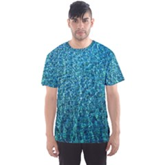 Turquoise Blue Ocean Men s Sports Mesh Tee