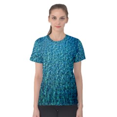 Turquoise Blue Ocean Women s Cotton Tee