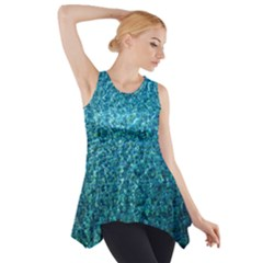 Turquoise Blue Ocean Side Drop Tank Tunic