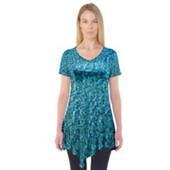 Turquoise Blue Ocean Short Sleeve Tunic