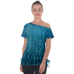 Turquoise Blue Ocean Tie-Up Tee