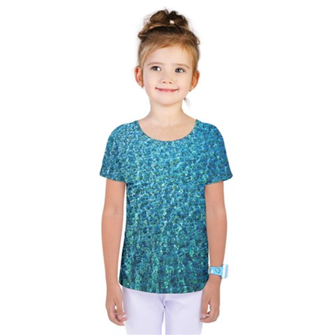 Turquoise Blue Ocean Kids  One Piece Tee by retrotoomoderndesigns
