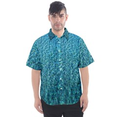 Turquoise Blue Ocean Men s Short Sleeve Shirt