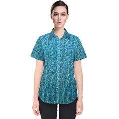 Turquoise Blue Ocean Women s Short Sleeve Shirt