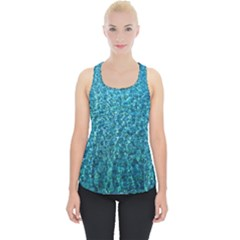 Turquoise Blue Ocean Piece Up Tank Top