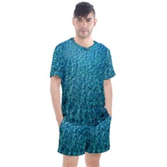 Turquoise Blue Ocean Men s Mesh Tee and Shorts Set