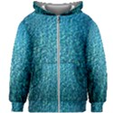 Turquoise Blue Ocean Kids  Zipper Hoodie Without Drawstring View1