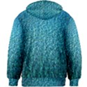 Turquoise Blue Ocean Kids  Zipper Hoodie Without Drawstring View2