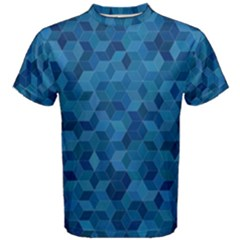Blue Mosaic Men s Cotton Tee by retrotoomoderndesigns