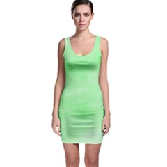 Mint Watercolor Bodycon Dress