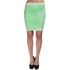 Mint Watercolor Bodycon Skirt