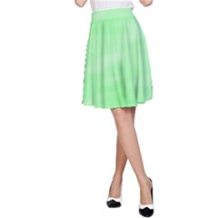Mint Watercolor A-Line Skirt