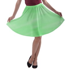 Mint Watercolor A-line Skater Skirt