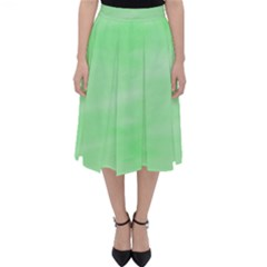 Mint Watercolor Classic Midi Skirt by retrotoomoderndesigns