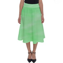 Mint Watercolor Perfect Length Midi Skirt by retrotoomoderndesigns