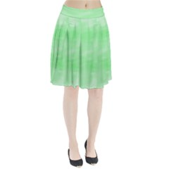 Mint Watercolor Pleated Skirt