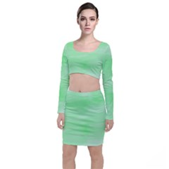 Mint Watercolor Top and Skirt Sets