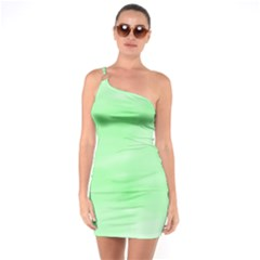 Mint Watercolor One Soulder Bodycon Dress